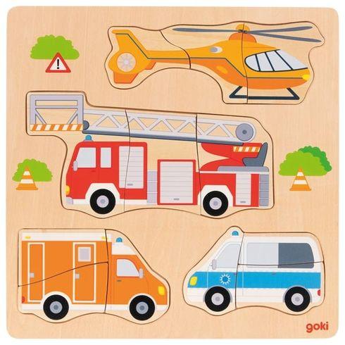 Záchranáři – vkládací puzzle, 12dílů - Goki