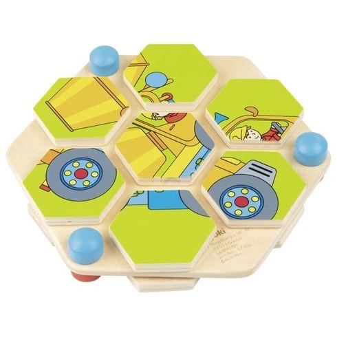 Puzzle staveniště vetvaru včelí plástve - Goki