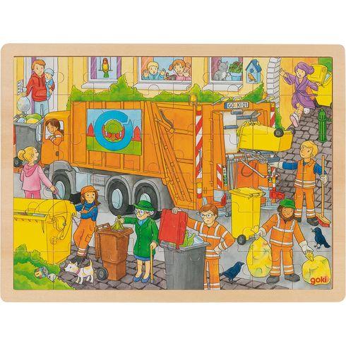 Puzzle popeláři při práci, 48dílů - Goki