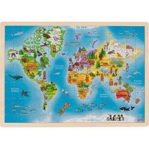 Náš svět – didaktické puzzle, 192díly - Goki