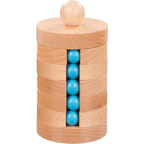 Kuličkový hlavolam zedřeva – logická hra - Goki