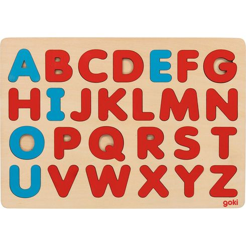 Puzzle písmenka, 26dílů - Goki