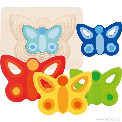 Vícevrstvé puzzle – Motýlek - Goki
