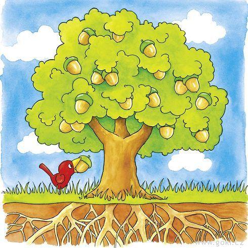 Strom – vývojové vrstvené puzzle zedřeva, 4vrstvy, 44díly - Goki