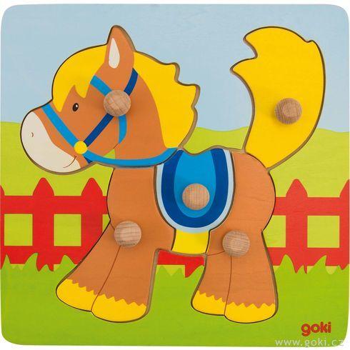 Koník – puzzle súchytkami - Goki
