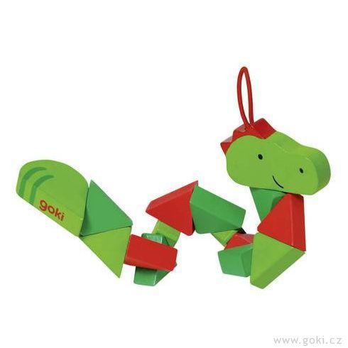 Puzzle skládačka krokodýl aklaun - Goki
