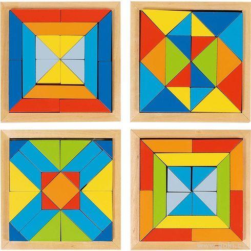 Dřevěný hlavolam – Mozaika - Goki