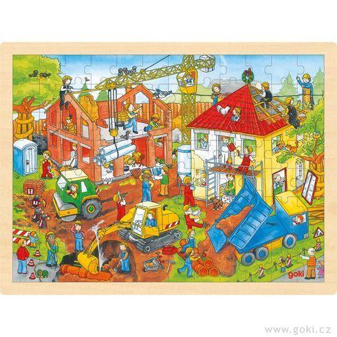 Puzzle nadesce – Stavba, 96dílů - Goki