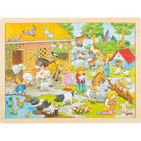 Hladící ZOO– puzzle sezvířátky, 48dílů - Goki