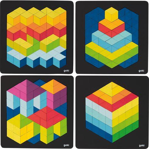 3Dpuzzle načerné podložce - Goki