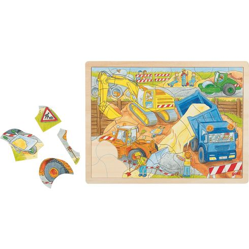 Puzzle – stavba, 56dílů - Goki
