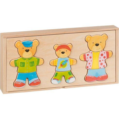 Šatní skříň – medvědí rodinka, 18motivů, 54díly - Goki