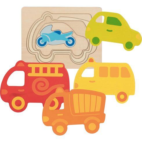 Vícevrstvé puzzle – Dopravní prostředky, 5dilů - Goki