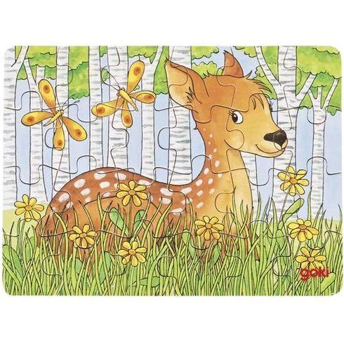 Puzzle mini – Lesní zvířátka, 24díly - Goki