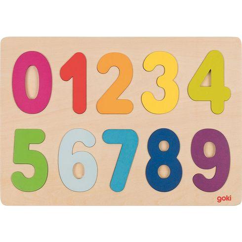 Dřevěné puzzle nadesce – Čísla - Goki