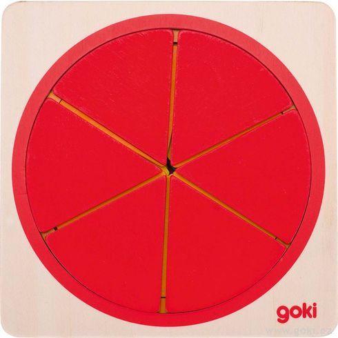 Vícevrstvé puzzle – Kruh, 6vrstev, 21dílů - Goki