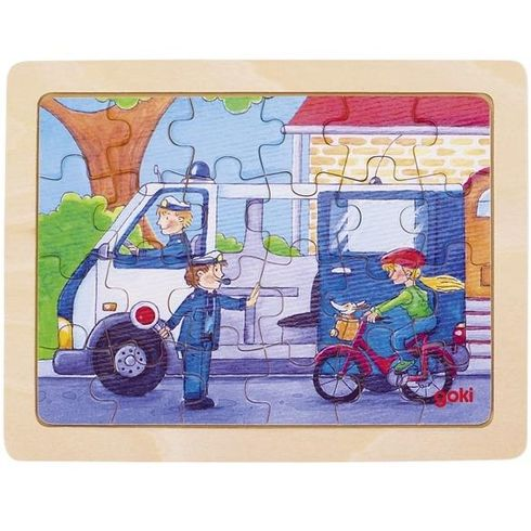 Minipuzzle – Autíčka při práci - Goki
