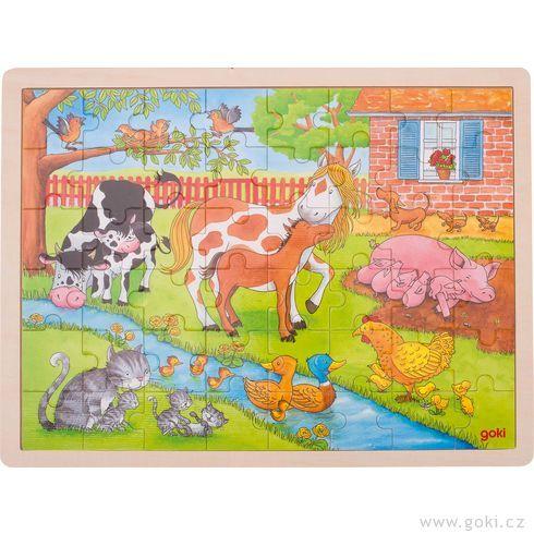 Puzzle – Život nafarmě, 48dílů - Goki