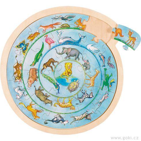 Kulaté puzzle nadesce – Zvířátka - Goki