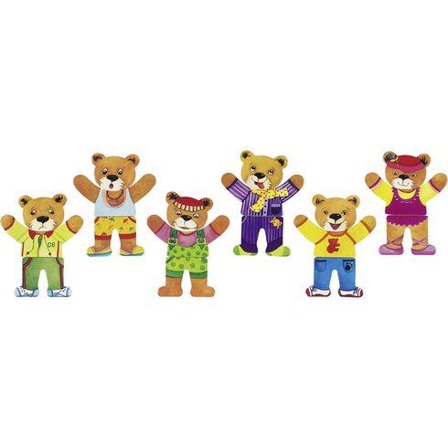 Puzzle – Šatní skříň medvěd II,6motivů, 18dílů - Goki