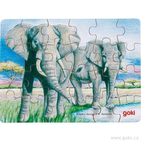 Puzzle – Divoká zvířata, 24díly - Goki