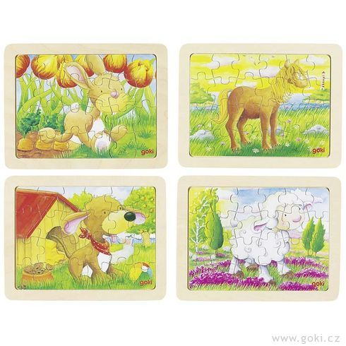 Puzzle – Zvířátka, 24díly - Goki