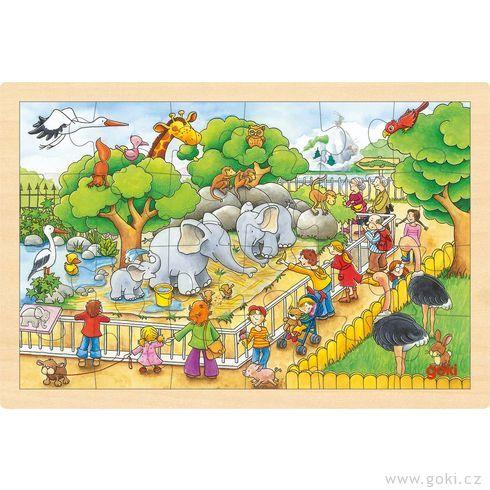 Puzzle nadesce – Návštěva zoo, 24díly - Goki