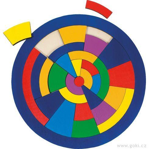 Kulaté puzzle nadesce – Barvy, 29dílů - Goki