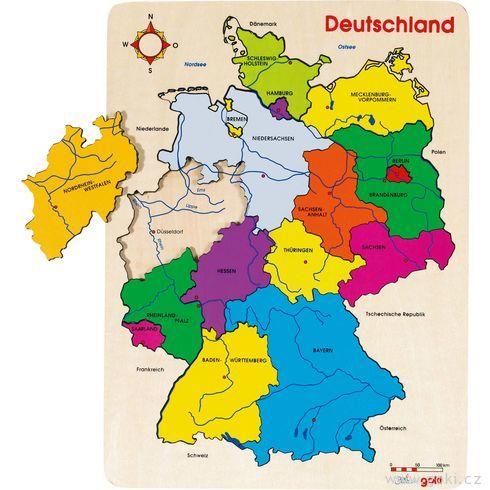 Puzzle nadesce – Německo, 16dílů - Goki