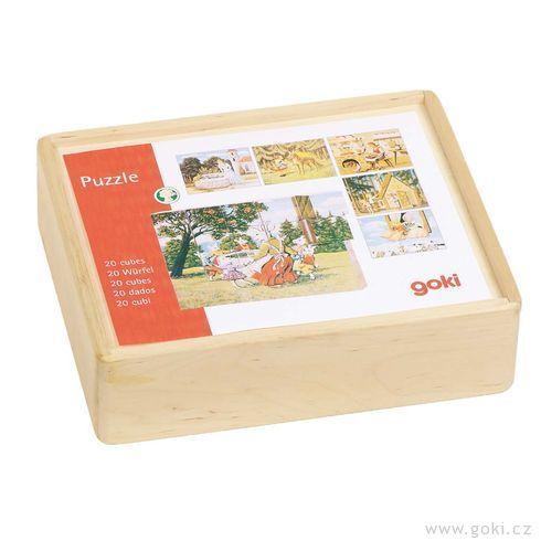 Kostky vdřevěné krabičce – Pohádky - Goki