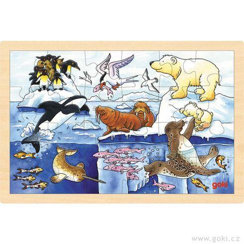 Puzzle nadesce – Polární zvířata, 24díly - Goki