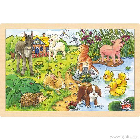 Puzzle nadesce – Zvířátka, 24díly - Goki