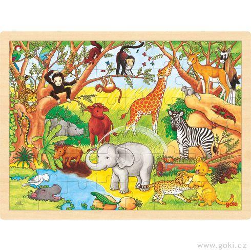 Puzzle nadesce – Afrika, 48dílů - Goki