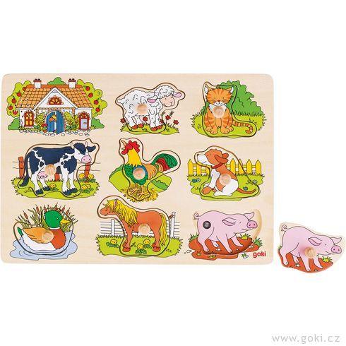 Puzzle sezvukem – Domácí zvířátka  - Goki