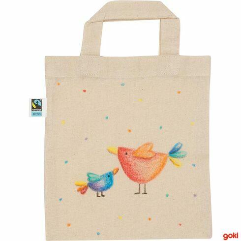 Bavlněná taška kvymalování malá, fairtrade - Goki