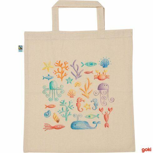 Bavlněná taška kvymalování velká, fairtrade - Goki