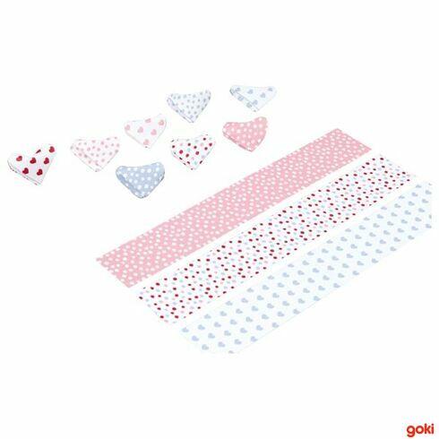 Papírová srdíčka, 80dílů - Goki