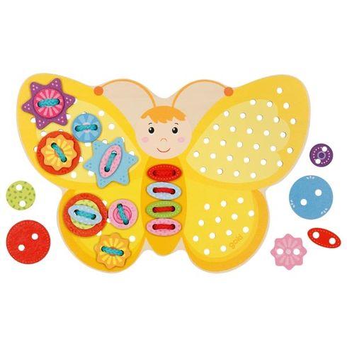 Provlékací hračka –Žlutý motýlek - Goki