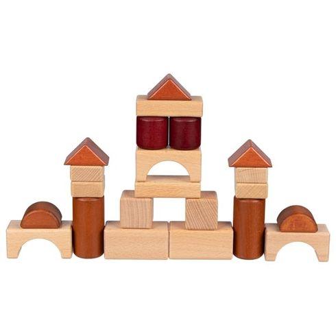 Stavební kostky vedřevěném rámu, 46dílů - Goki
