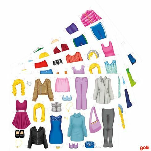 Papírová oblékací panenka - Goki