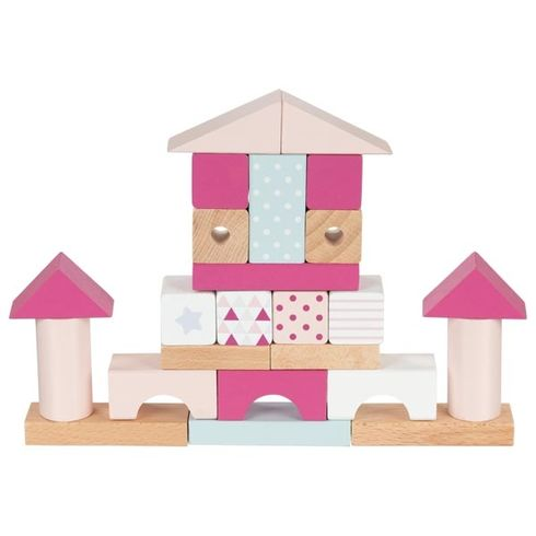 Stavební kostky – Lifestyle růžová - Goki