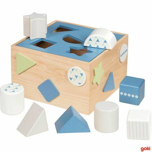 Dřevěná vkládačka – Lifestyle modrá - Goki