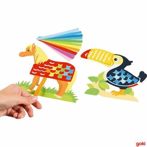 Provlékací hračka zpapíru, 100dílů - Goki
