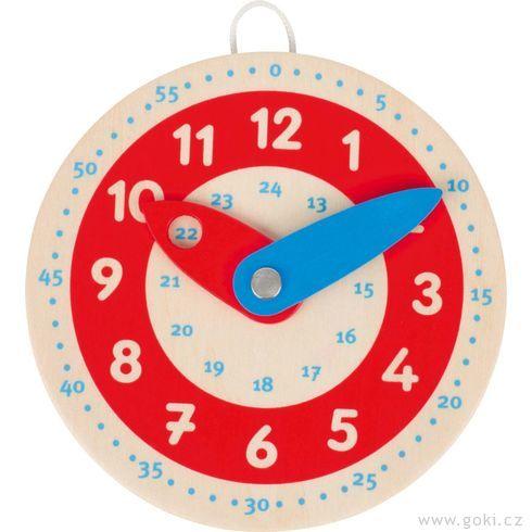 Dřevěné hodiny, 10cm - Goki