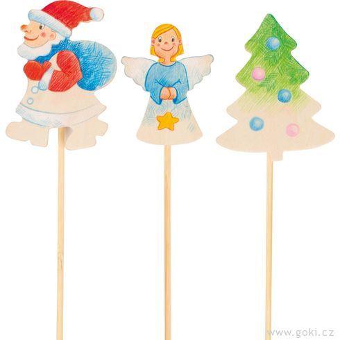 Vánoční dekorace kvymalování, 6ks - Goki