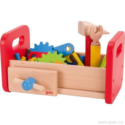 Dřevěný stolek – ponk proděti, 36dílů - Goki