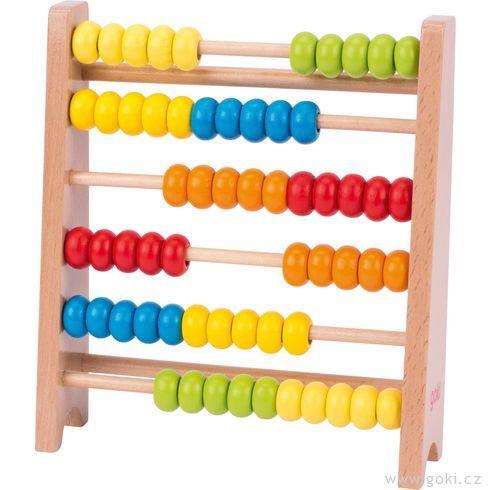 Dřevěné počítadlo, 60kroužků - Goki