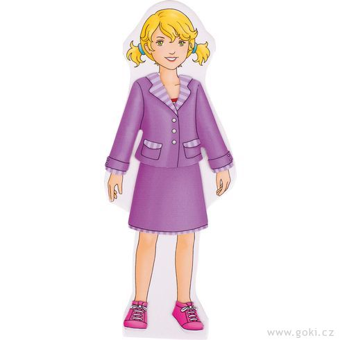 Oblékací panenka – magnetická šatní skříň - Goki
