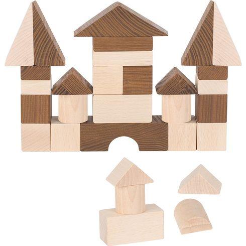 Klasické stavební kostky přírodní, 30ks - Goki