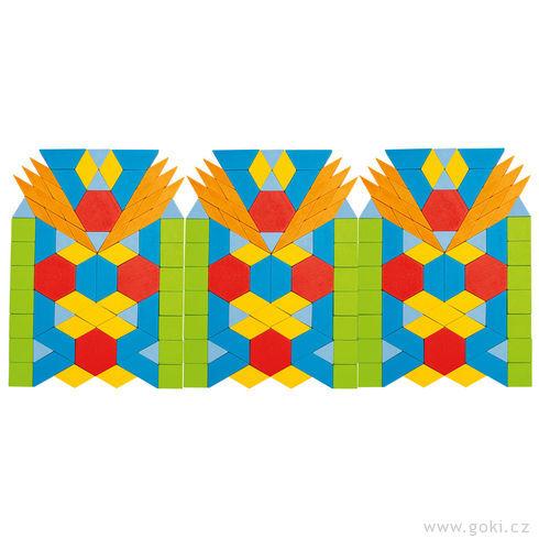 Skládačka puzzle geometrické tvary, 250ks - Goki